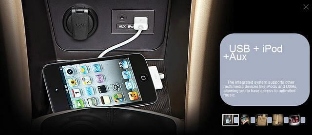 Hyundai Fluidic Verna Interior USB iPod and Auxilliary points