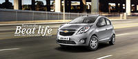 Chevrolet Beat in Switch Blade Silver Colour Side Front View