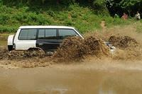 Mitsubishi Pajero SFX in Mud and Water