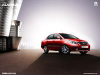 Tata Indigo Manza Wallpaper Right Side View 3 Monarch Red Color