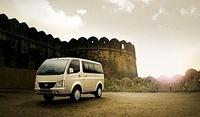 Tata Venture in Champagne Gold Color Front Left Side View wallpaper