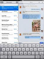 Apple Ipad 3 Black Color showing message conversation