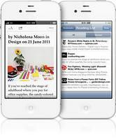 Iphone 4 S White Color Front View Vertical Showing ad free article feature of safari