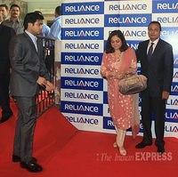 anil ambani and tina ambani son jai anshul ambani and jai anmol ambani at Mukesh ambani reliance party